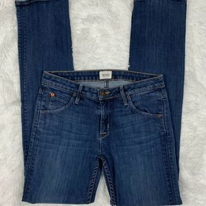 Hudson Womens Jeans Mid Rise Carly Straight Sz 28